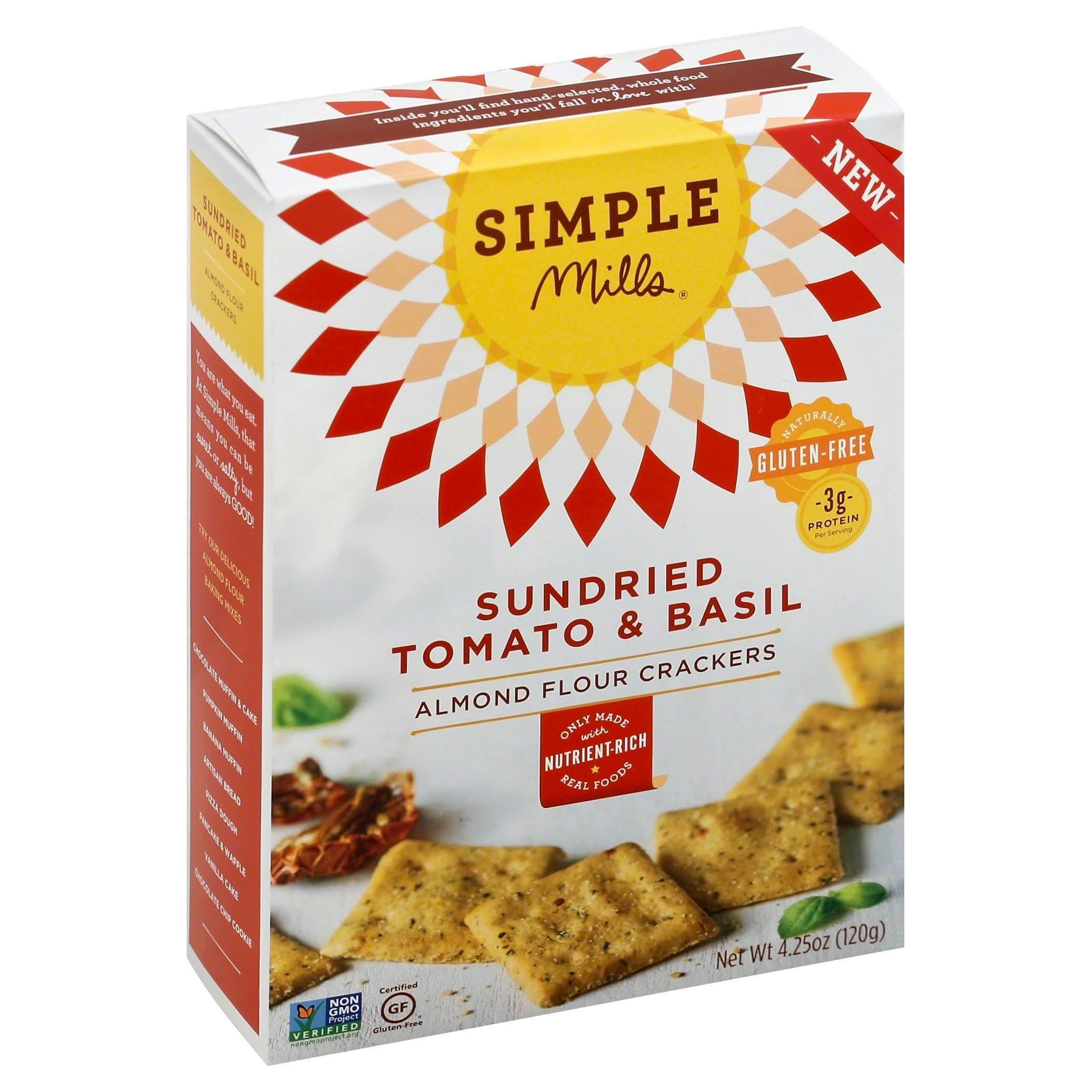 Simple Mills Sundried Tomato & Basil Almond Flour Crackers