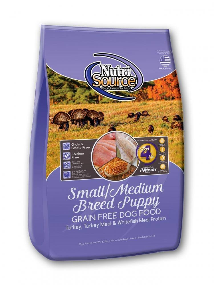 NutriSource Grain Free Small & Medium Breed Puppy 5 lbs | Dog Food