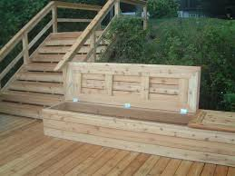 Build Outdoor Storage Bench by Deck Bench With Storage Storage Benches Slammed And Decking