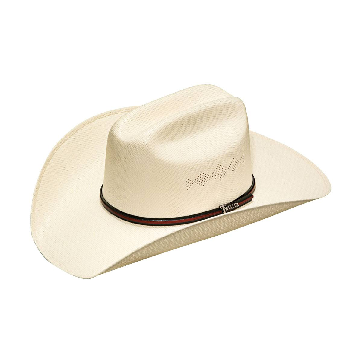 Twister 5x Shantung Double S Straw Cowboy Hats - Natural, 7 1/8""