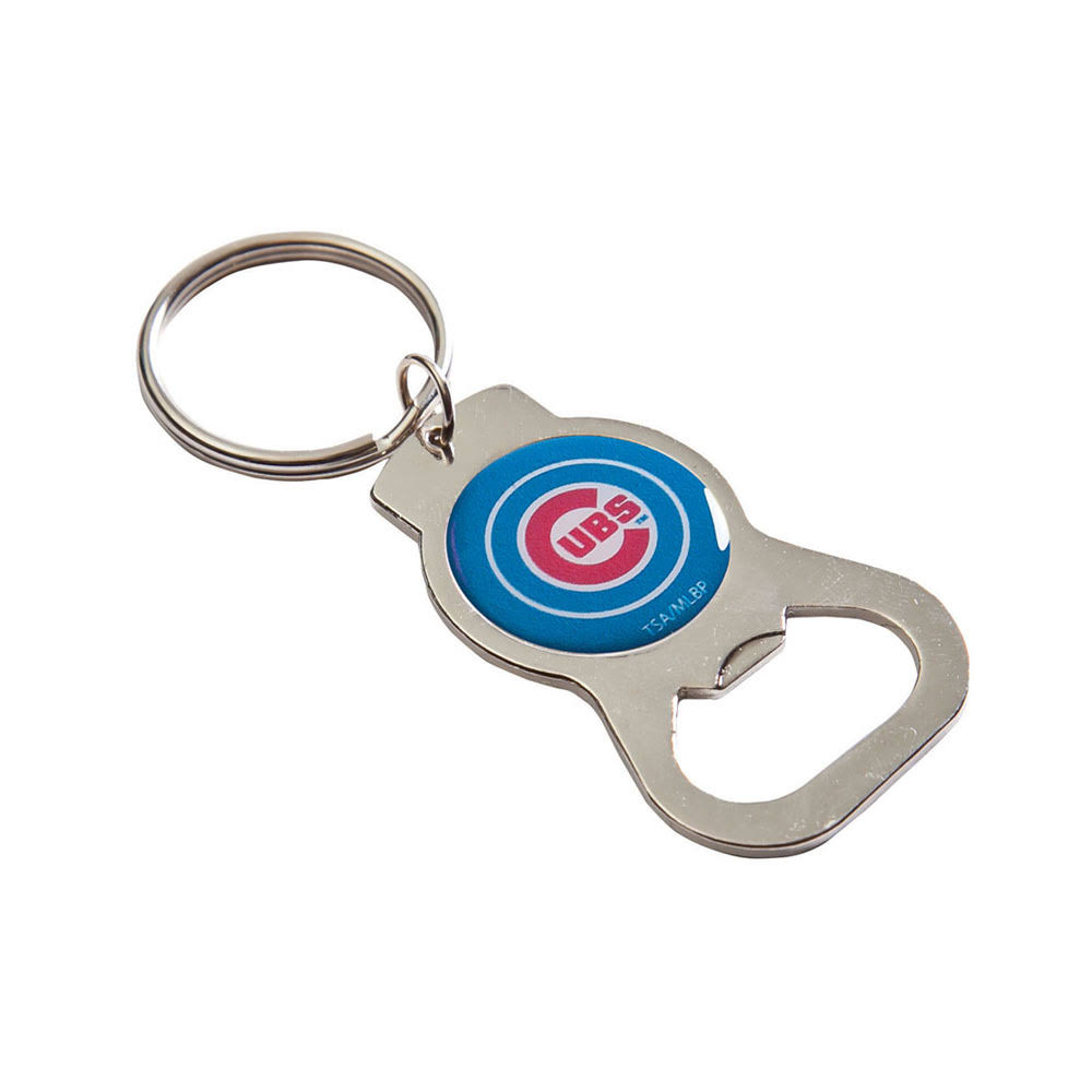 MLB Chicago Cubs Bottle Opener Key Chain, Silver