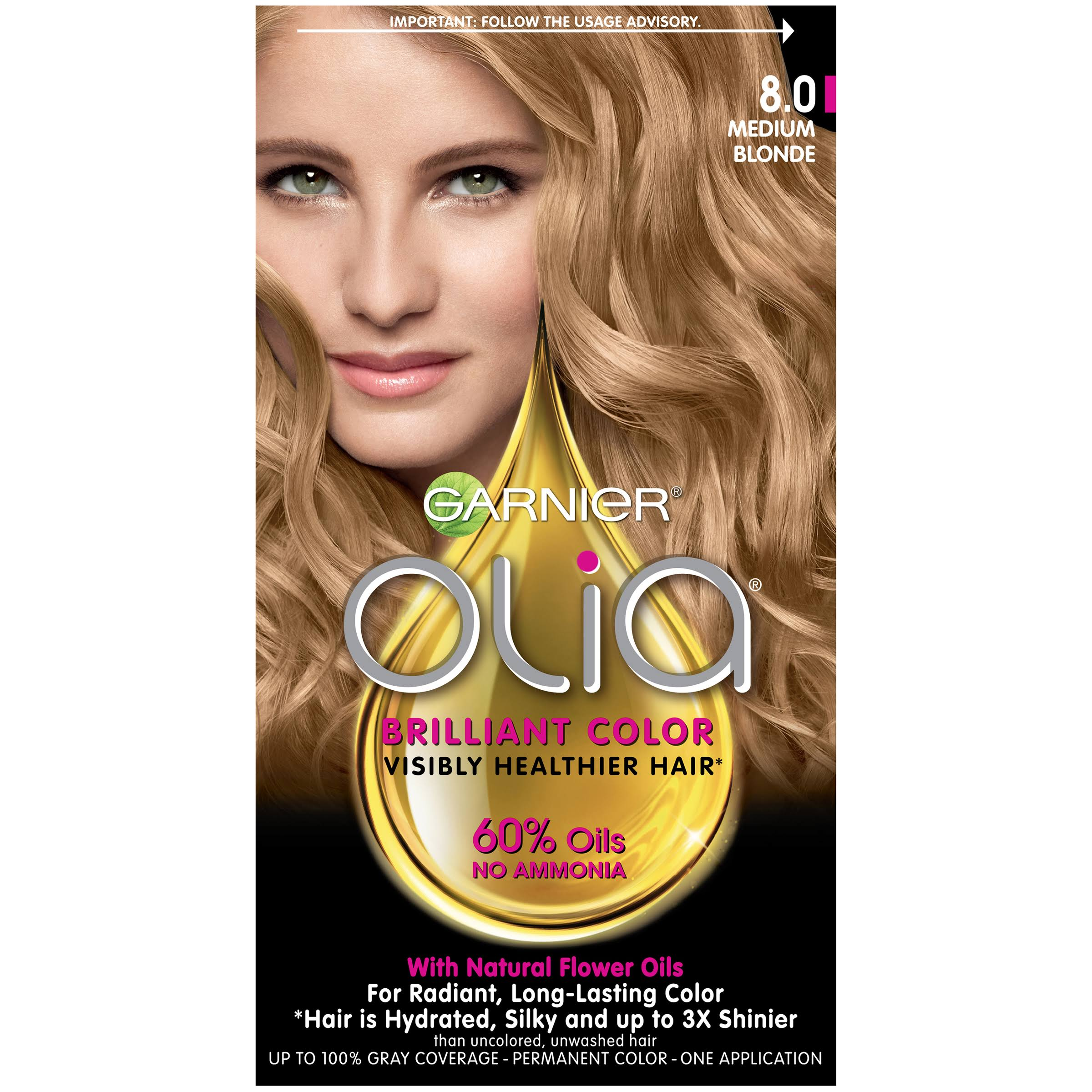 Garnier Olia Permanent Color - 8.0 Medium Blonde