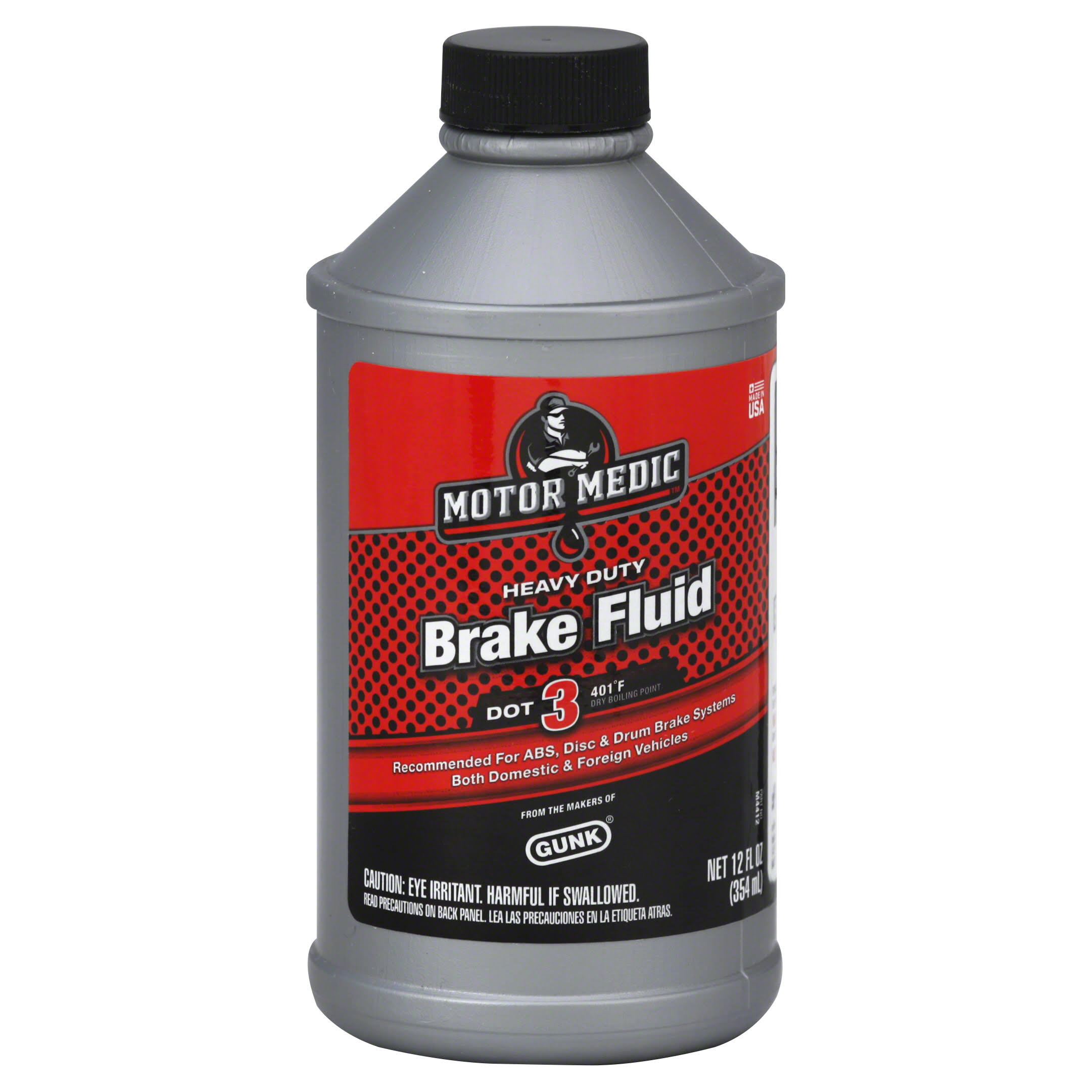 Motormedic M4412 Dot 3 Brake Fluid - 12oz