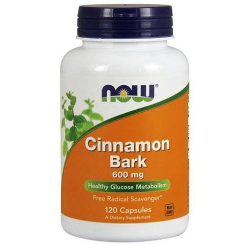 Now Foods Cinnamon Bark - 600 mg, 120 Capsules