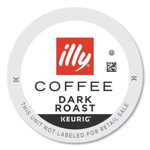 Illy Coffee K-Cup Pods, Dark, 20/Box