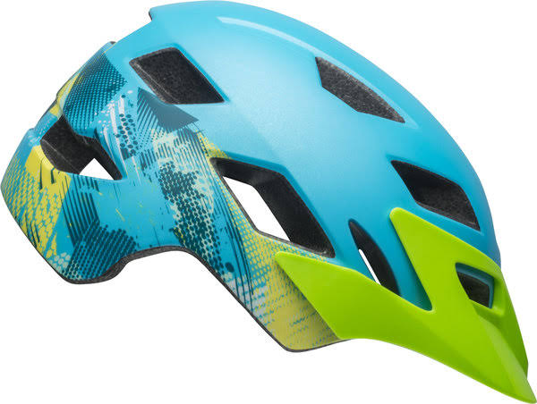 Bell Sidetrack Helmet - Kids' Matte Bright Green/Blue, Youth