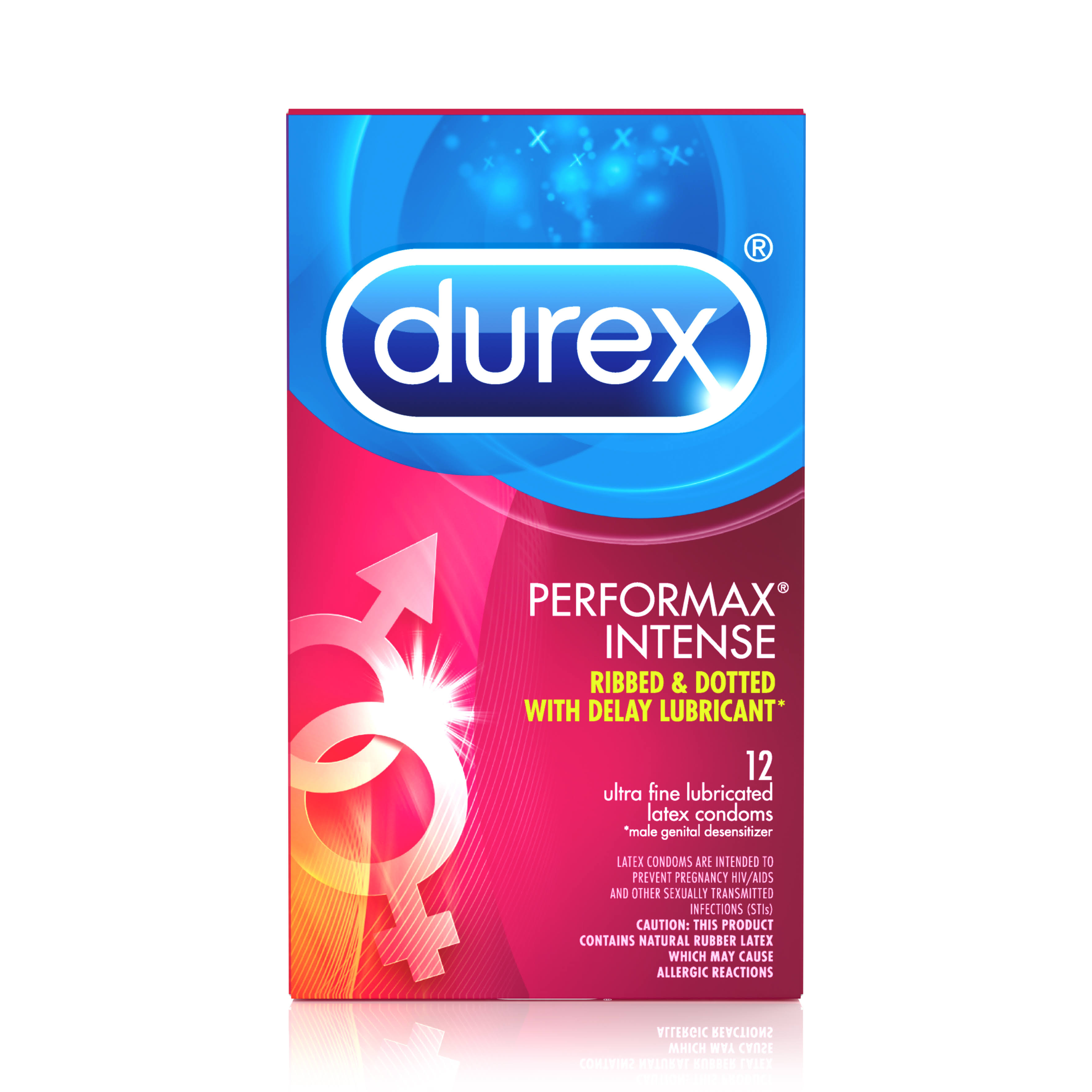 Durex Performax Intense Ultra Fine Latex Condoms - Ribbed and Dotted, 12ct