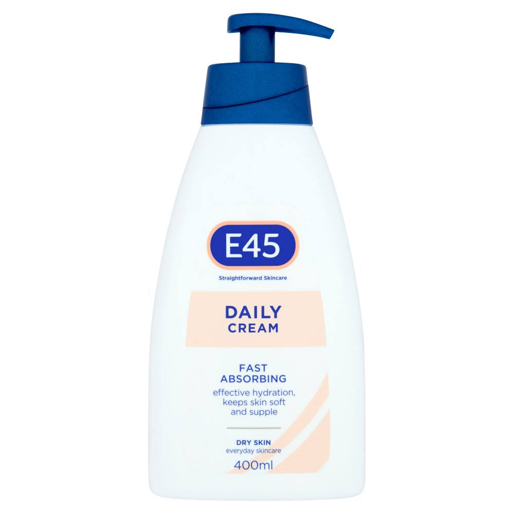 E45 Daily Cream - 400ml, Fast Absorbing