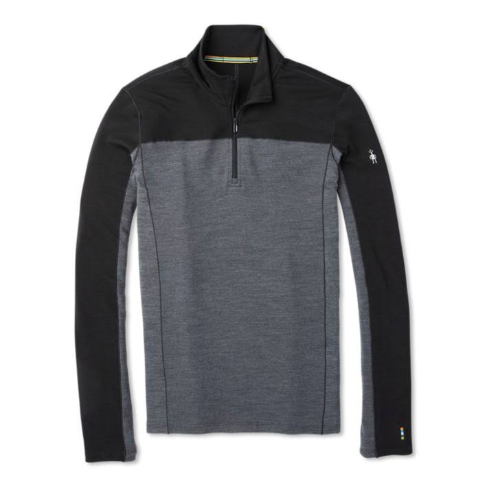 Smartwool Men's Merino Sport 250 Long Sleeve 1/4 Zip - Medium, Black