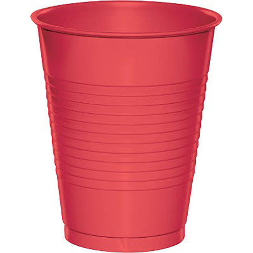 Creative Converting Touch of Color Plastic Cups - Coral, 470ml, 20ct