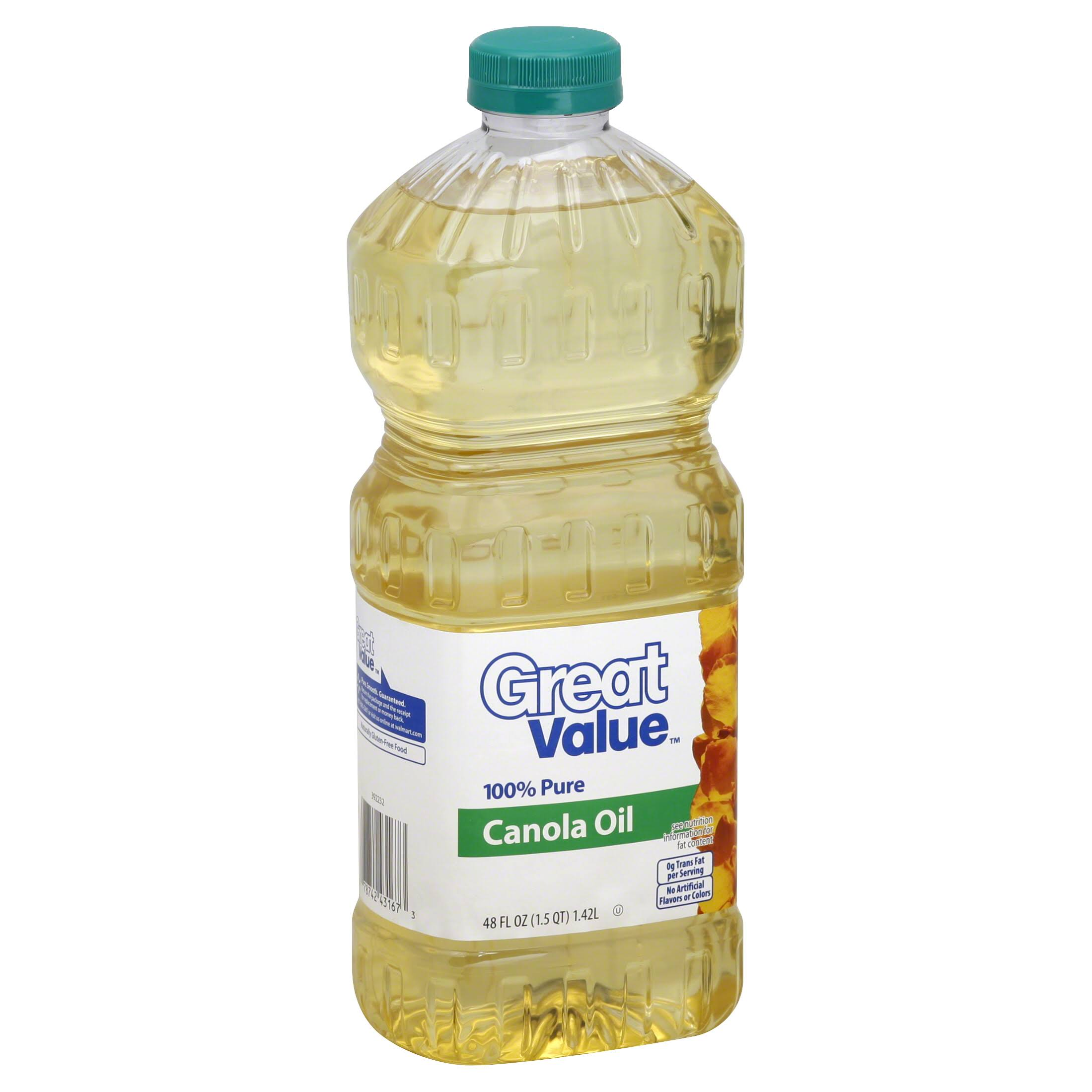 Great Value Canola Oil - 48oz