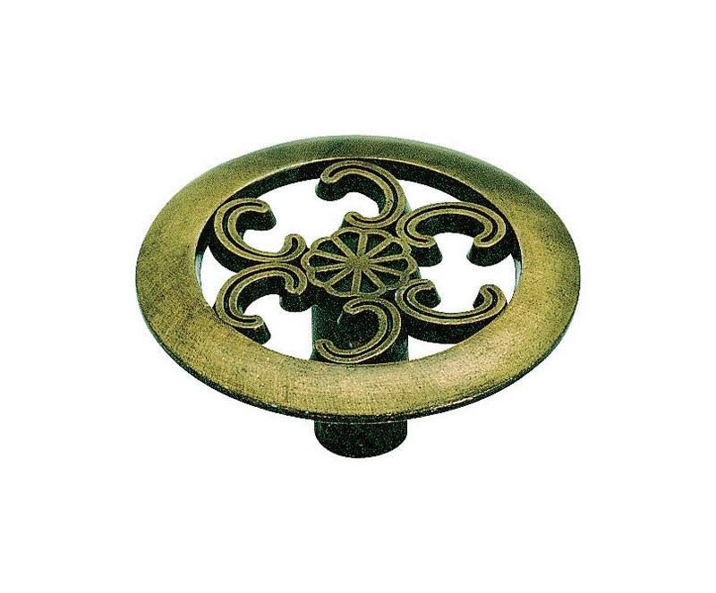 "Amerock Allison Round Cabinet Knob - Antique Brass, 1 1/2""x3/4"""