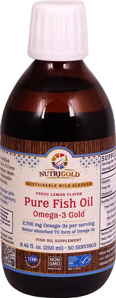 NutriGold Pure Fish Oil Liquid - Omega-3 Gold 250 ml