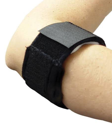 Bell Horn Tennis Elbow Support Strap - Black