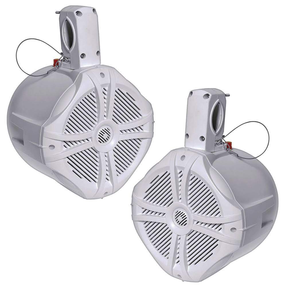 "Power Acoustik Marine 6.5"" Wake Tower Speaker White (Pair)"