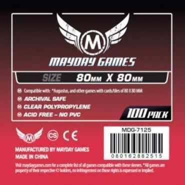 Mayday Games Card Sleeves - Medium Square, 80mm x 80mm, 100pk