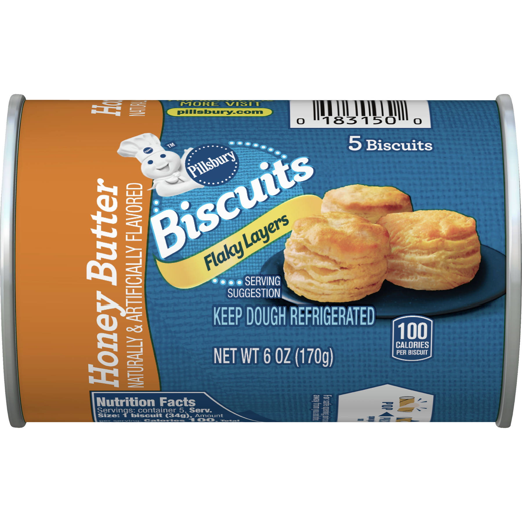 Pillsbury Grands! Juniors Flaky Layers Biscuits - Honey Butter, 5ct, 6oz