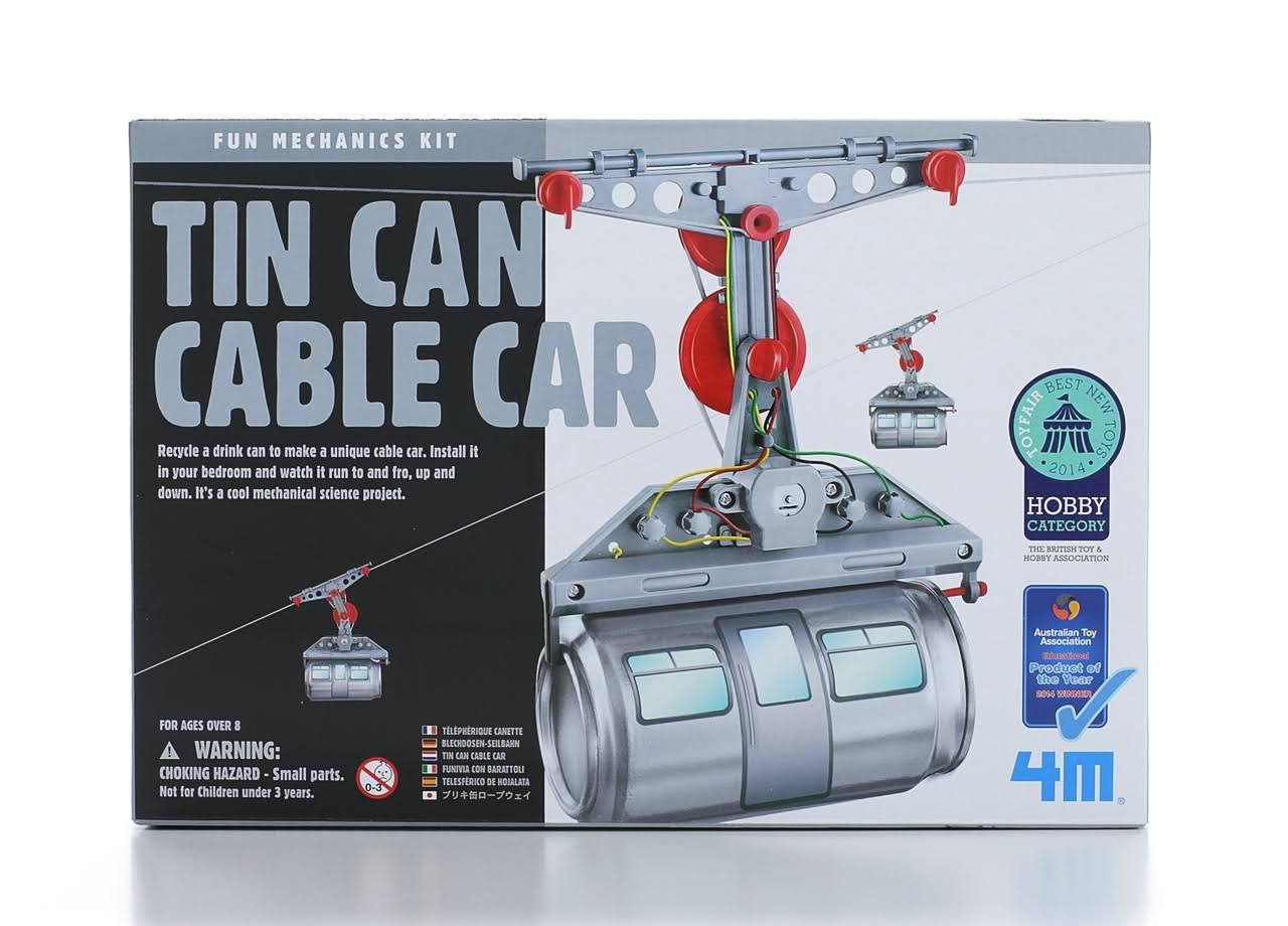 4M Tin Can Cable Car Mechanics Kit