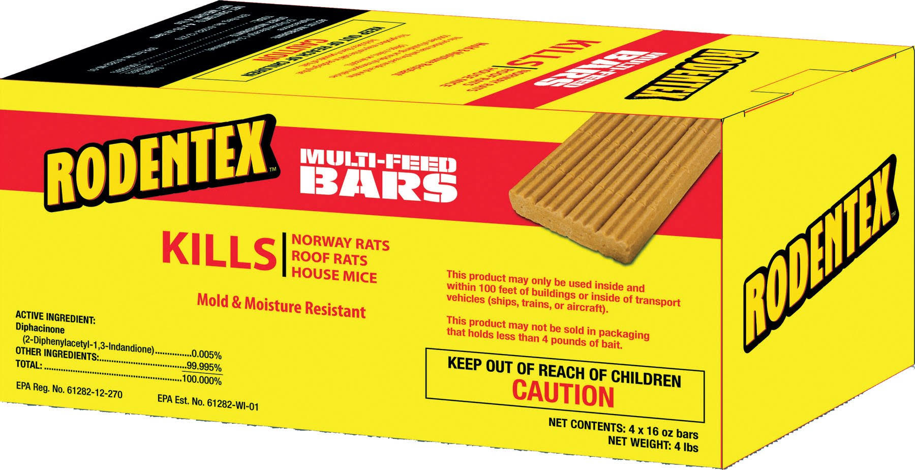 Rodentex Multi-Feed Control Bars - 16oz, 4pcs