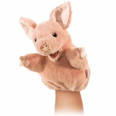Folkmanis Puppets Plush Little Pig Hand Puppet