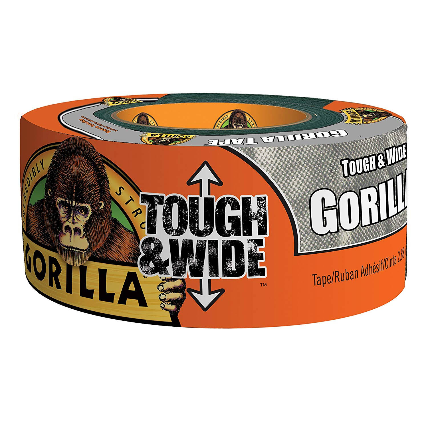 "Gorilla Silver Tough and Wide Tape - 2.88"" x 30yds"