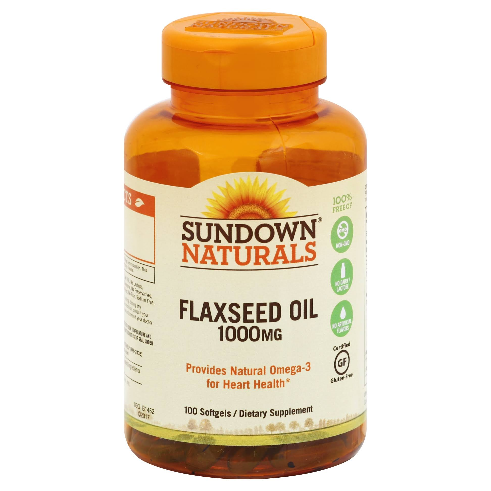 Sundown Naturals Flaxseed Oil Supplement - 1000mg, 100 Count