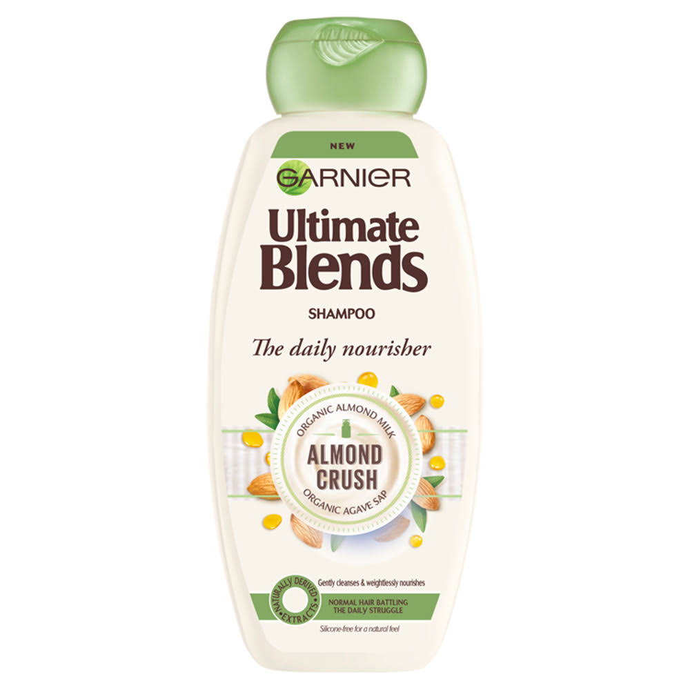 Garnier Ultimate Blends Shampoo - Almond Milk, 360ml