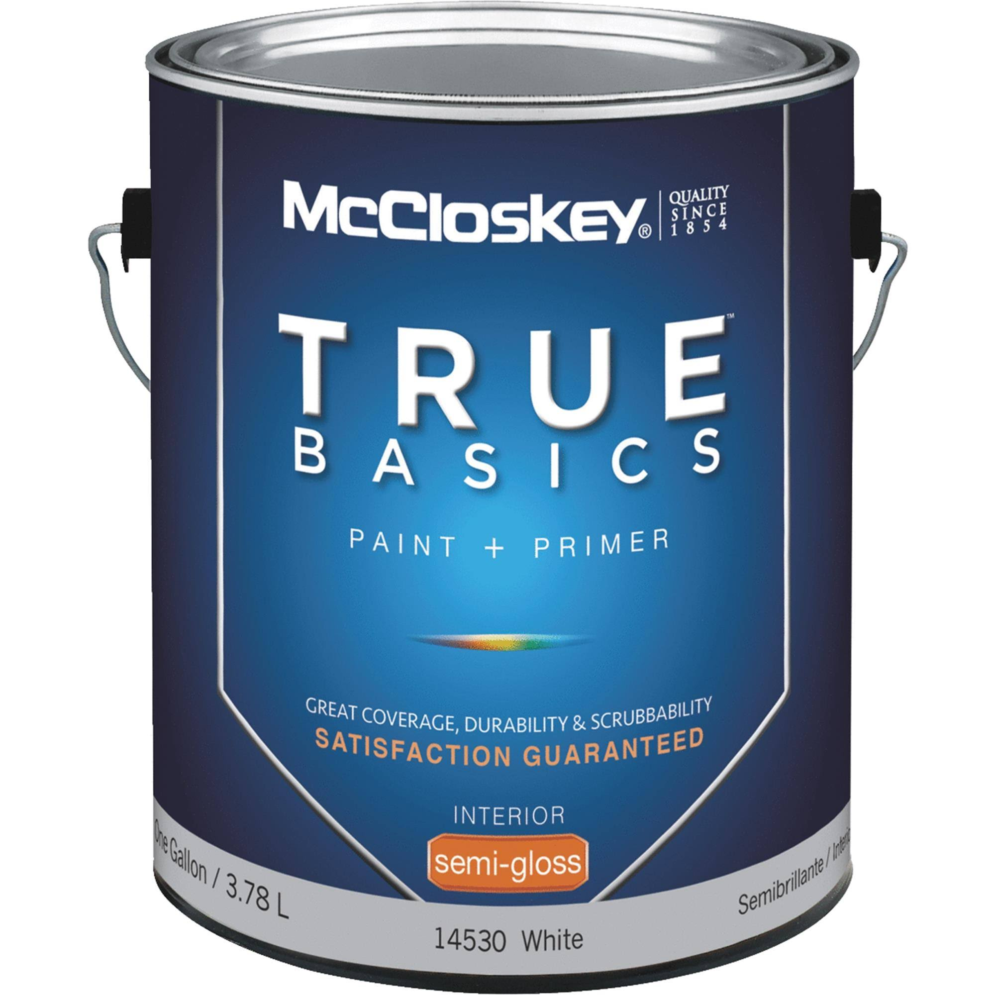 McCloskey True Basics Latex Paint & Primer Semi-Gloss Interior Wall Paint - 080.0014530.007