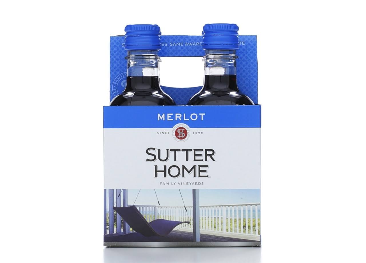 Sutter Home Family Vineyards Merlot - 4 pack, 187 ml bottles