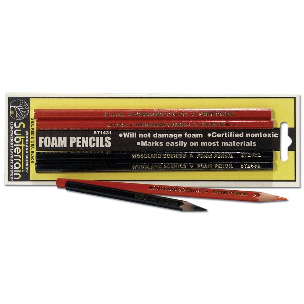 Woodland Scenics ST1431 Foam Pencils - 4ct