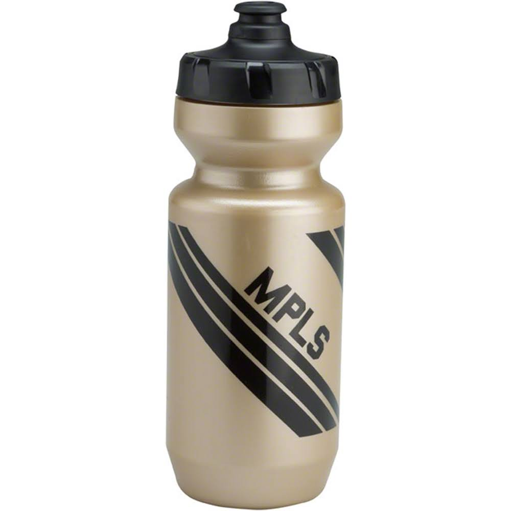 All-City Purist Water Bottle: MPLS Gold