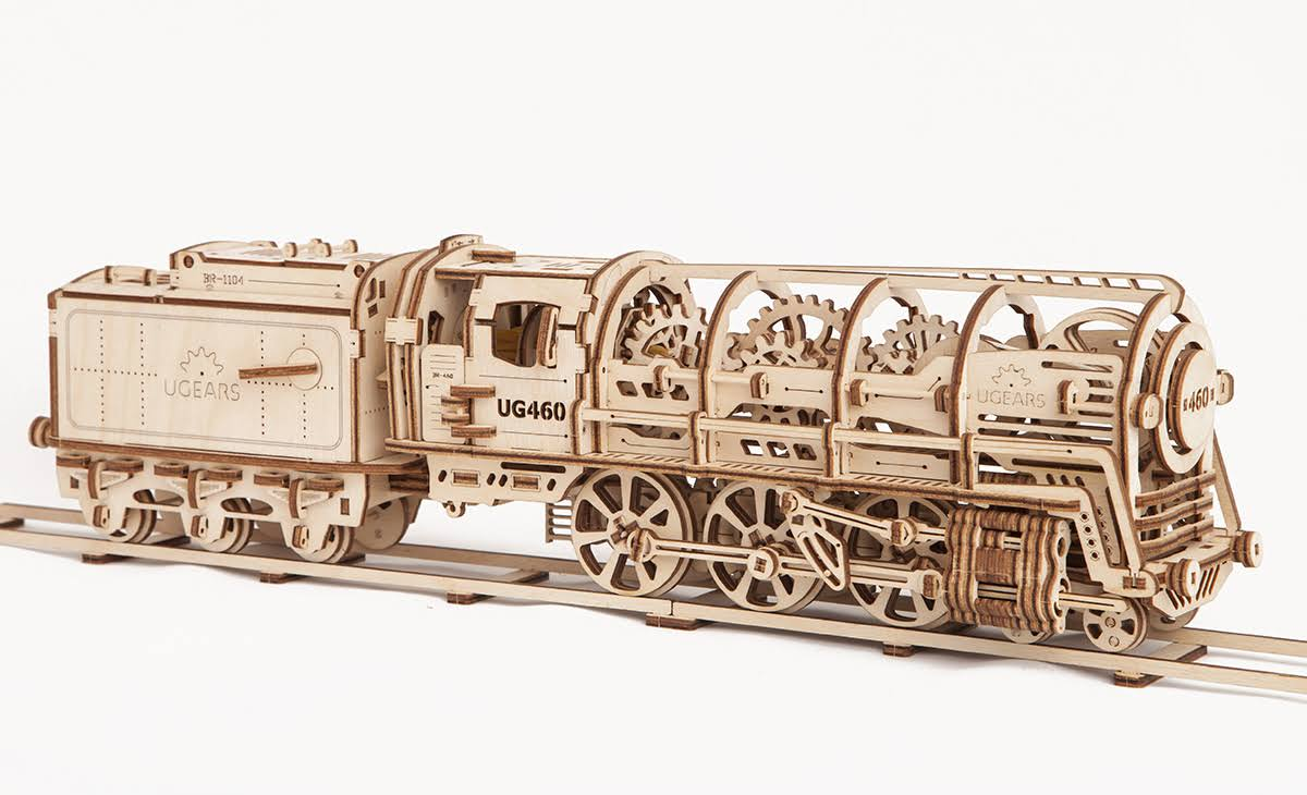 Ugears Locomotive Mechanical 3D Puzzle