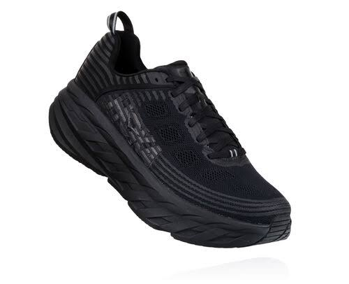 Hoka One One Women's Bondi 6 Shoe - 10 - Black / Black