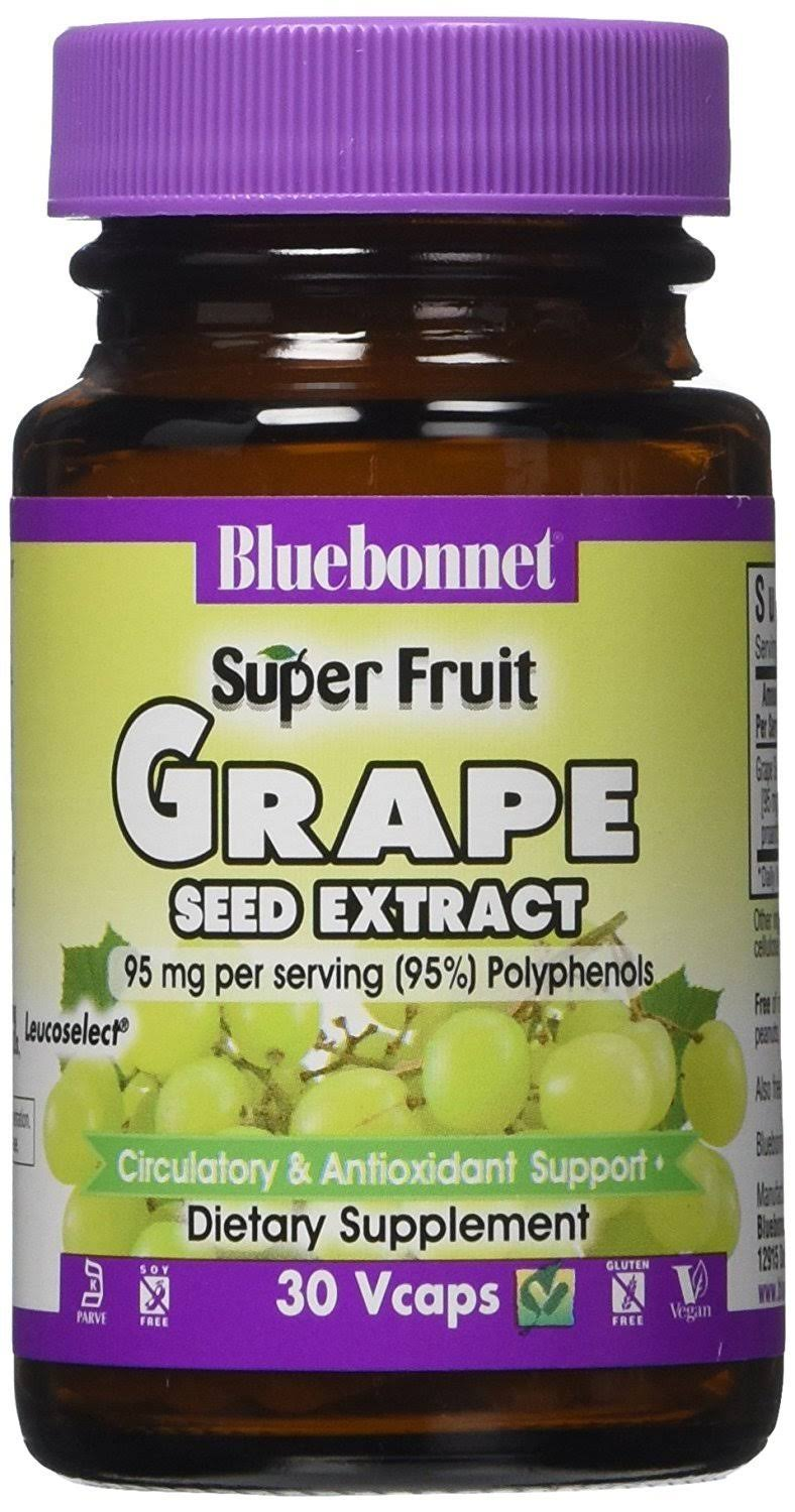 BlueBonnet Super Fruit Grape Seed Extract Supplement - 30 Count