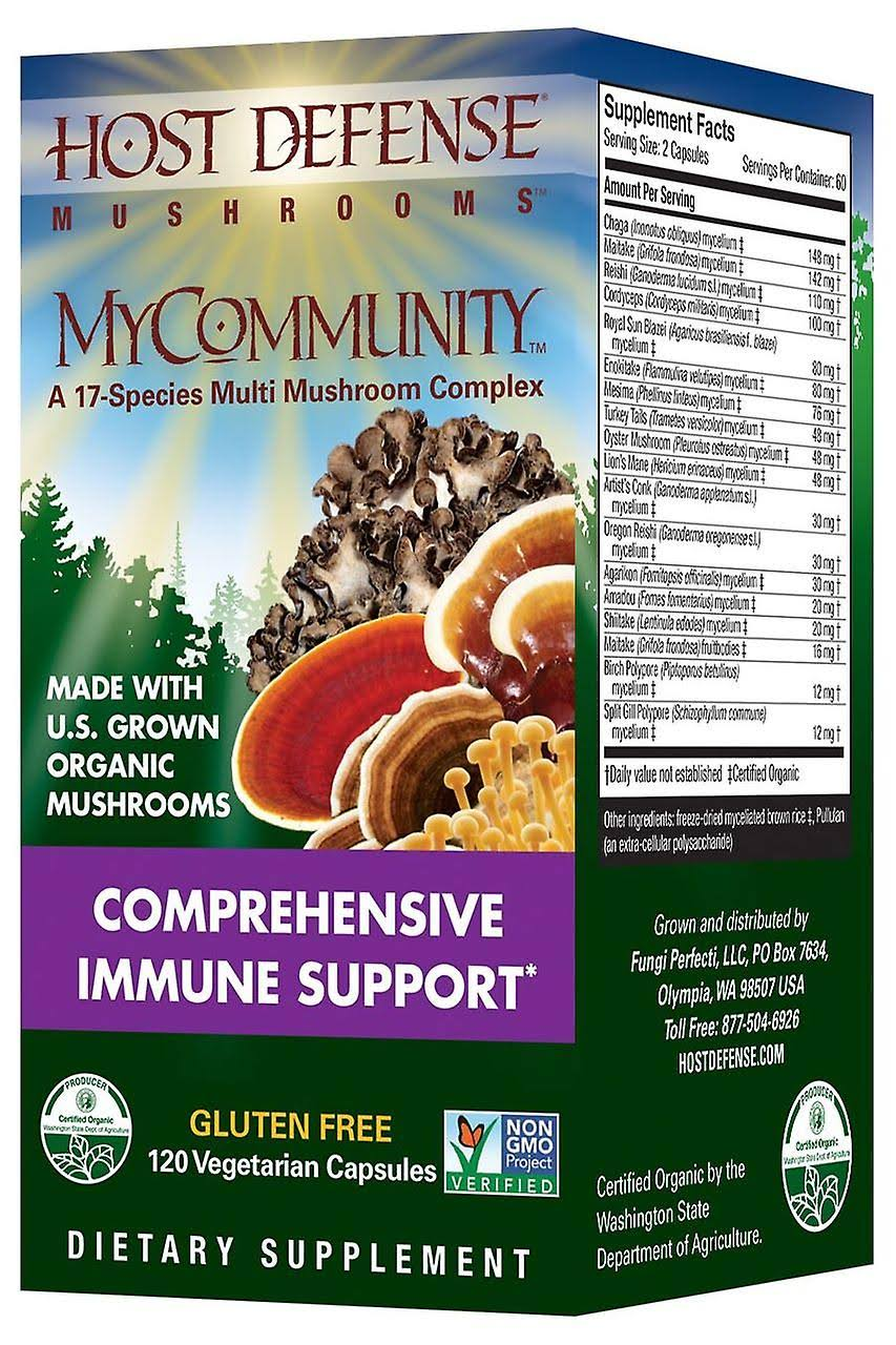 Host Defence MyCommunity Comprehensive Immune Support - 120 Capsules