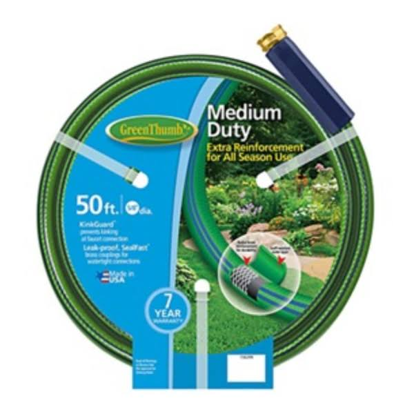 "Green Thumb Medium Duty Garden Hose - 5/8"" X 50'"