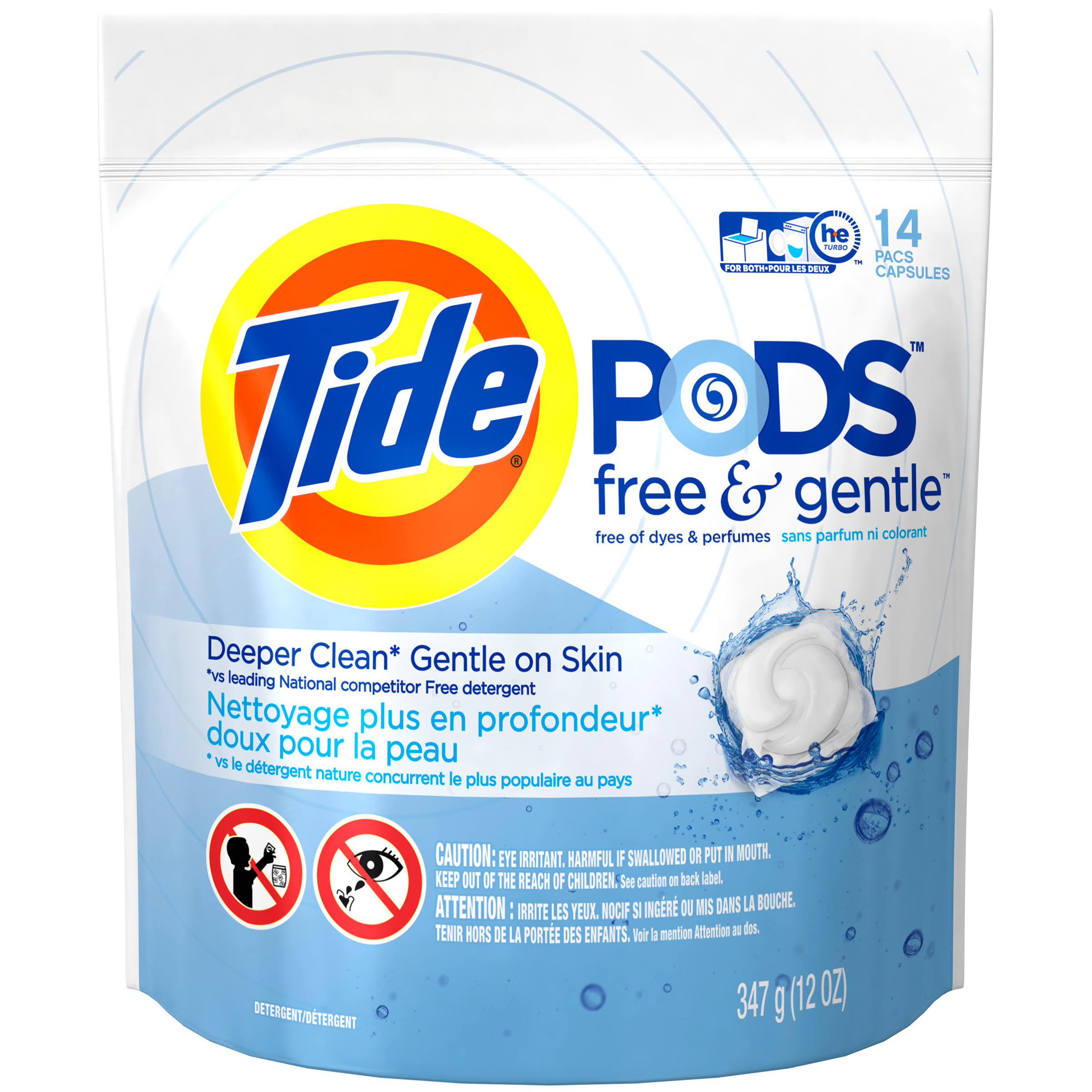 Tide Pods Free and Gentle Laundry Detergent Pacs - 14ct