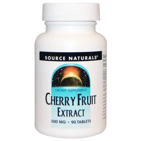 Source Naturals Cherry Fruit Extract Supplement - 500mg, 90 Tablets