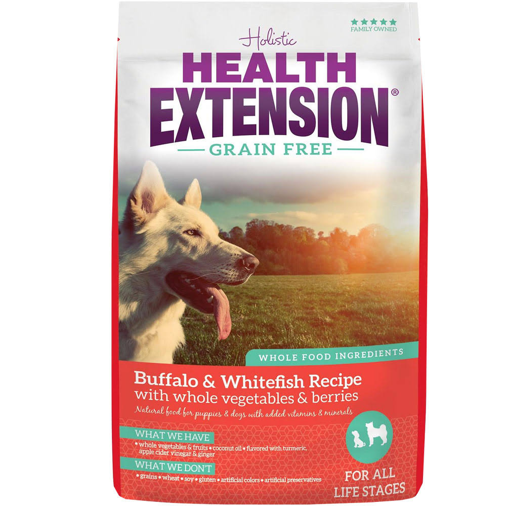 Health Extension 23.5 lb Grain Free Buffalo and Whitefish Dry Dog Food