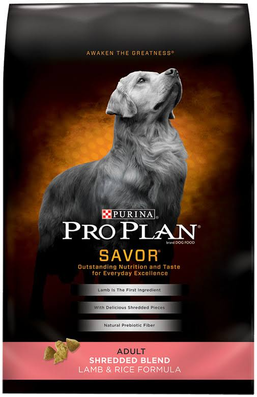Purina Pro Plan Dry Dog Food - Savor, Adult Lamb Rice Formula, 18lbs