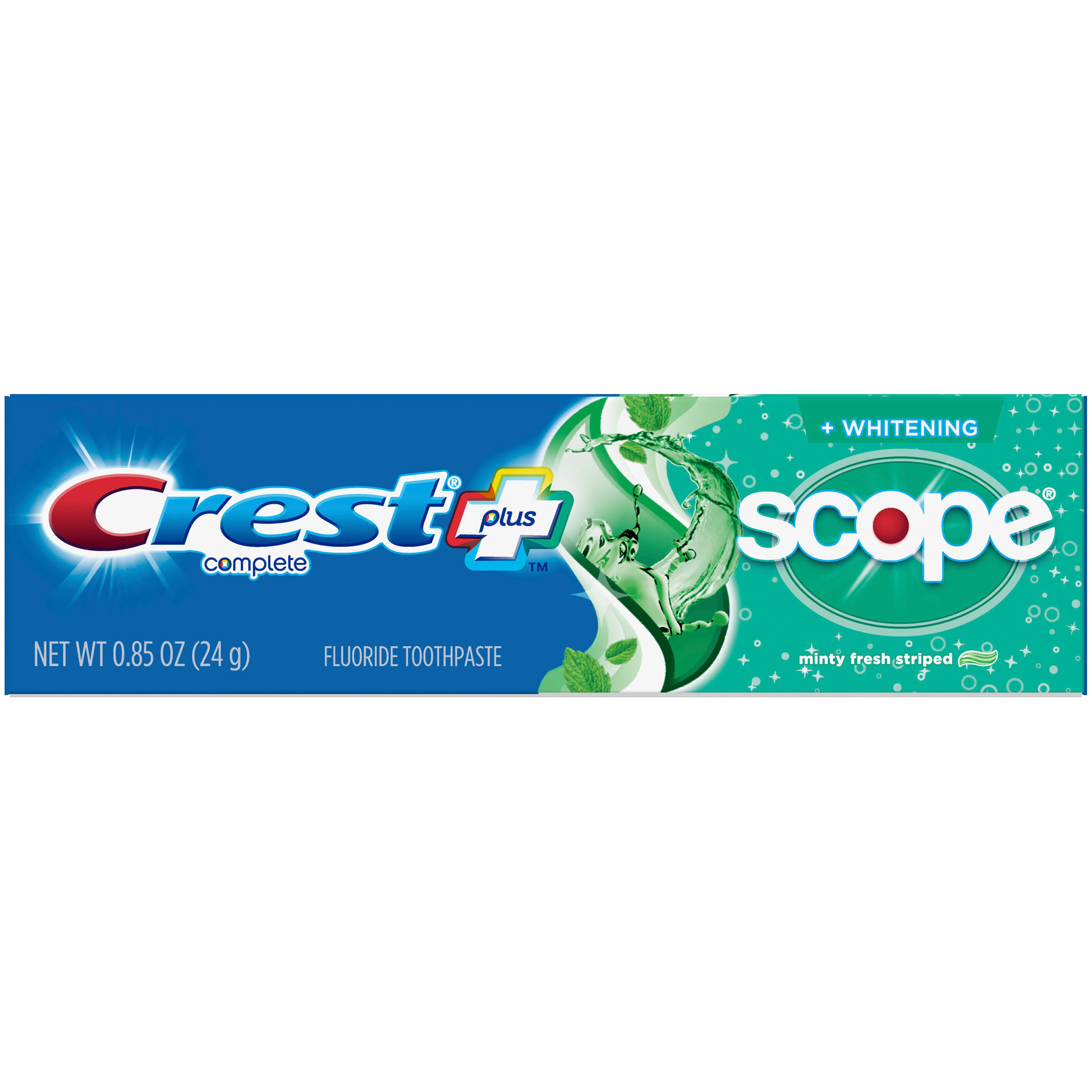 Crest Complete Multi-Benefit Striped Fluoride Toothpaste - 0.85oz, Minty Fresh