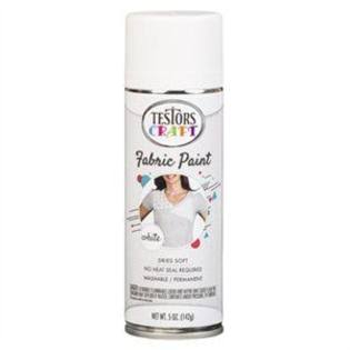 Testor 256747 5 oz Fabric Paint Spray White