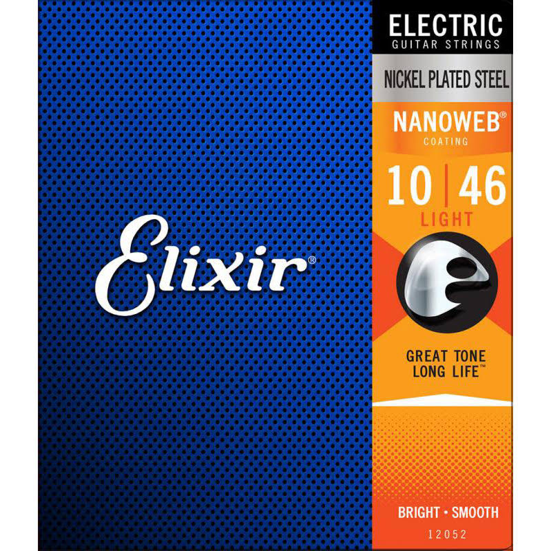 Elixir Nanoweb Electric Guitar Strings - Medium, .011-.049