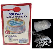 Cake Decorating Books Free by 100 Piece Cake Decorating Set With Storage Box