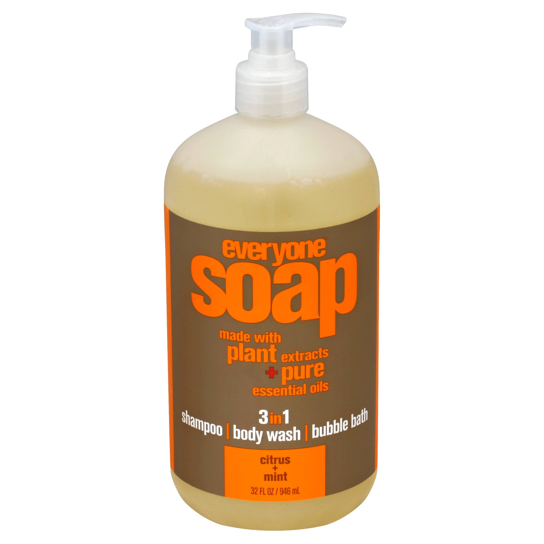 EO Products 3 in 1 Everyone Soap - Citrus Plus Mint, 32oz