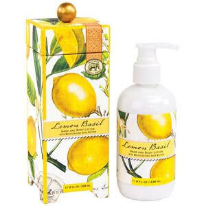 Michel Design Works Hand and Body Lotion - Lemon Basil, 8oz