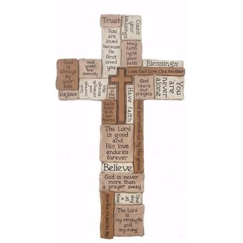 Ganz USA 163204 8 x 14 in. Collage Wall Cross