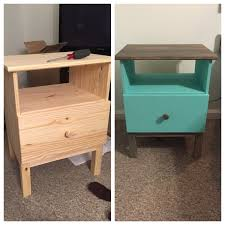 Ikea Tarva 6 Drawer Dresser by This Is The Ikea Tarva Nightstand Shown With Paint And A Stained