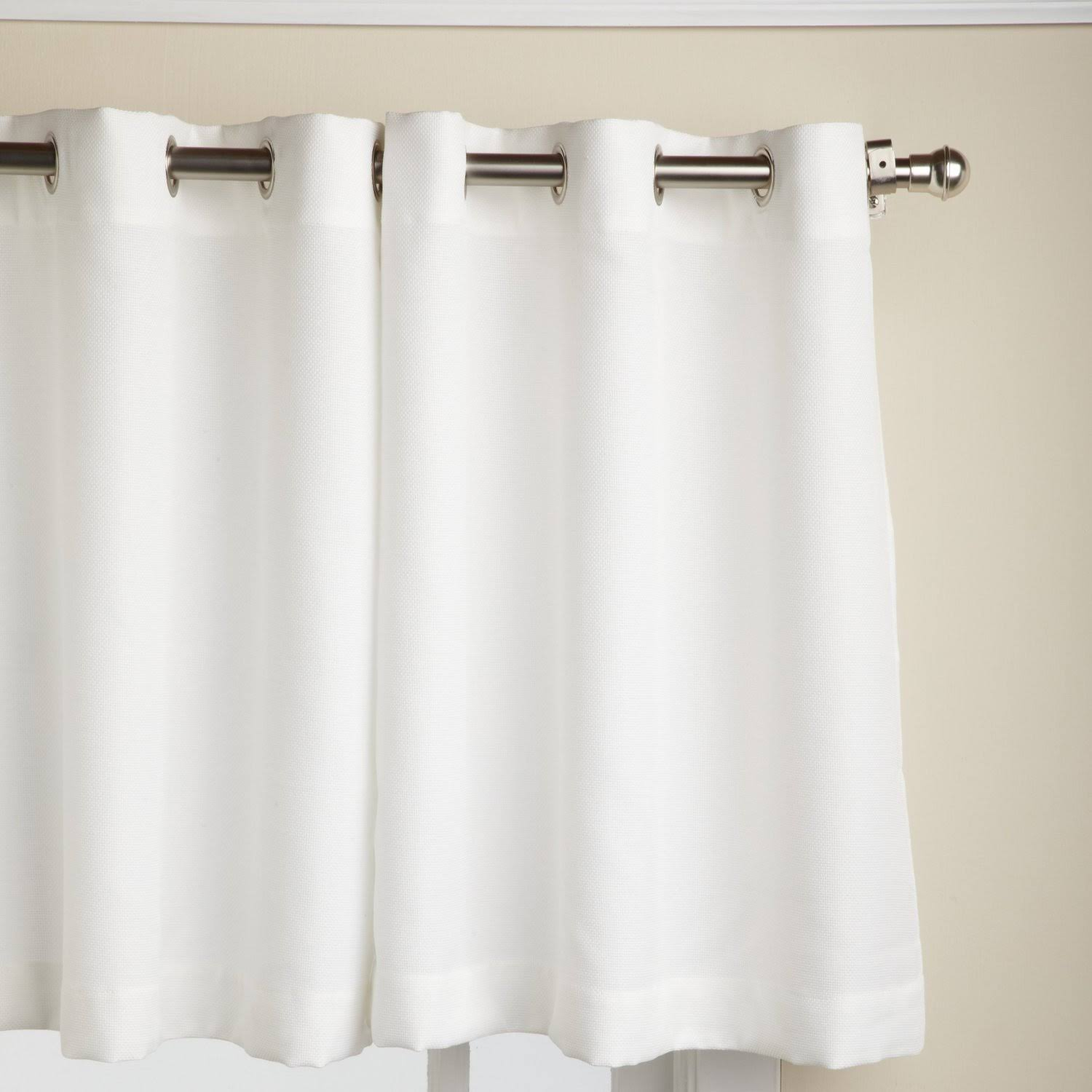 "Lorraine Home Jackson Kitchen Curtain: 36"" Tier Pair White"