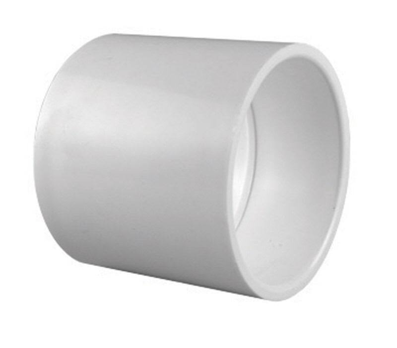 "Charlotte Pipe PVC Coupling - 2"", White"